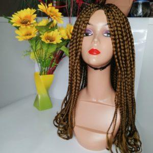 Loose braid hair unit (brown)
